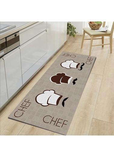 MarkaEv Kitchen 19 Mutfak Halısı 133*190cm Bej